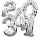 "Supershape 34"" Foil Numbers"
